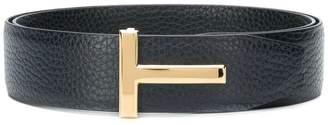Tom Ford T logo buckle belt