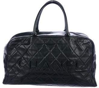 Chanel Quilted Leather Weekender