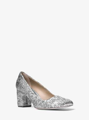 Michael Kors Gigi Metallic Brocade Pump