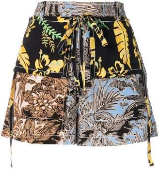3.1 Phillip Lim floral patchwork shorts