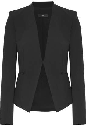 Theory - Lanai Stretch-wool Blazer - Black $395 thestylecure.com