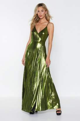 Nasty Gal Party On Metallic Dress