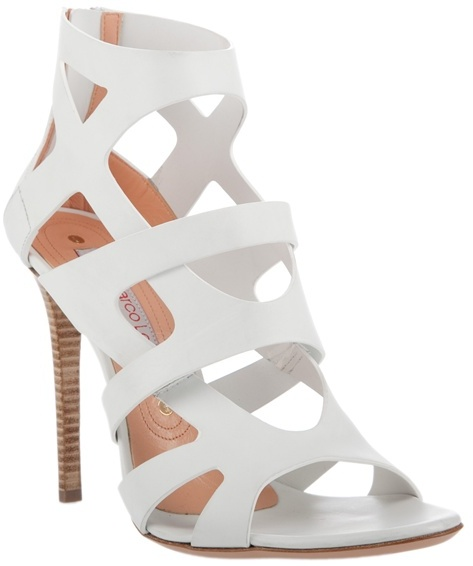 Gianmarco Lorenzi Strappy sandal with zip detail