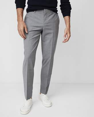 Express Slim Gray Houndstooth Dress Pant