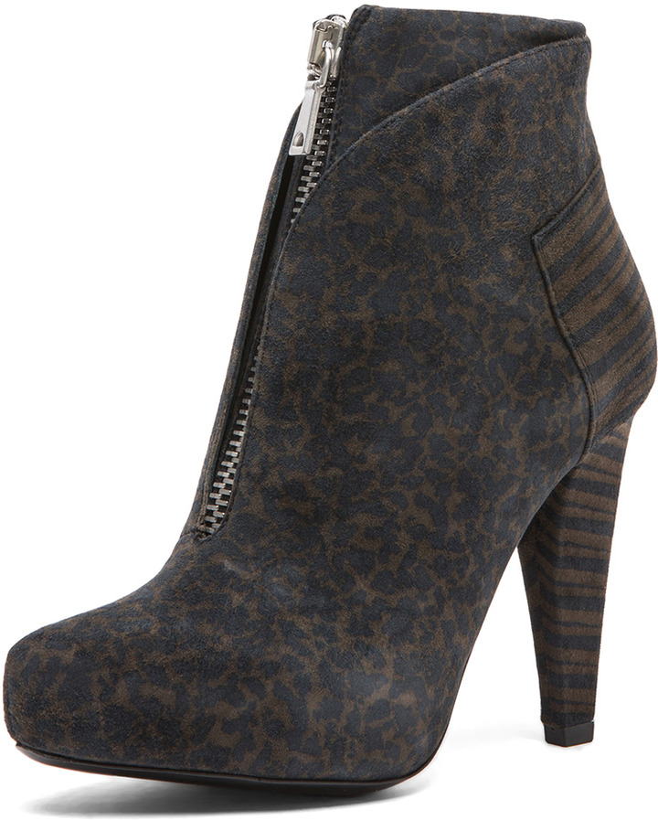 Proenza Schouler Suede Ankle Boots in Grey
