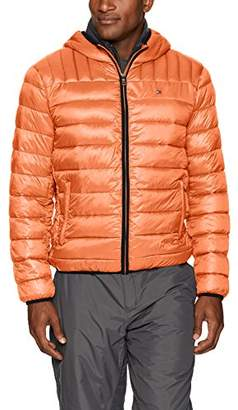 Tommy Hilfiger Men's Insulated Packable Jacket with Contrast Bib and Hood