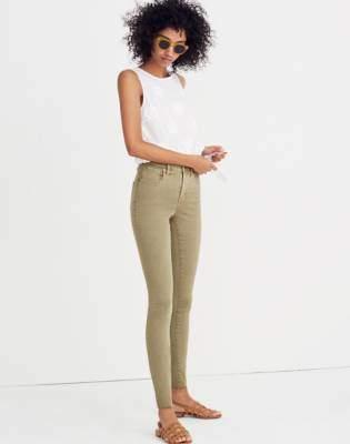 "Madewell Taller 9"" High-Rise Skinny Jeans: Raw-Hem Garment-Dyed Edition"