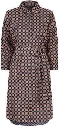 Burberry Tiled Archive Shirt Dress