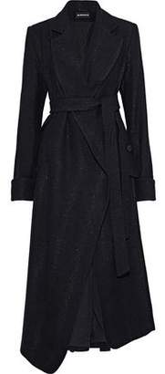 Ann Demeulemeester Metallic Wool-Blend Coat