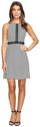 Jessica Simpson Striped Twill Knit Dress Women's Dress