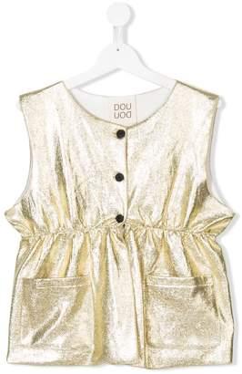 Douuod Kids sleeveless metallic top