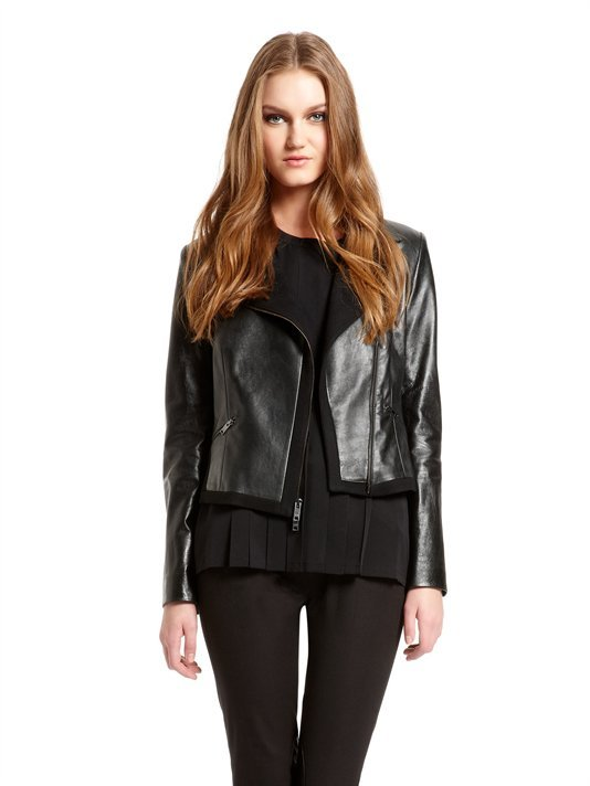 Runway Motorcycle Jacket With Stretch Melton Inserts