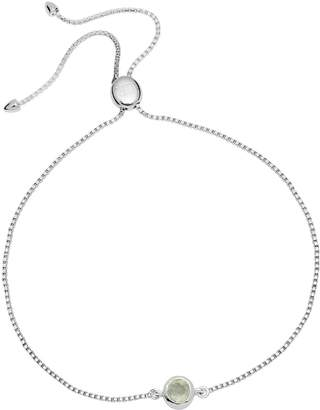 Lola Rose London - Curio Stud Slider Bracelet Aqua Chalcedony & Silver
