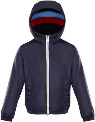 Moncler Camarsac Lightweight Down Jacket w/ Colorblock Hood, Size 4-6