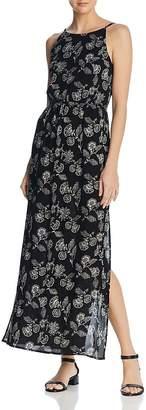 Aqua Floral Print Maxi Dress - 100% Exclusive