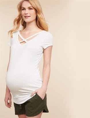 Jessica Simpson Motherhood Maternity Under Belly Back Pockets Maternity Shorts