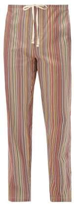 Paul Smith Signature Striped Cotton Pyjama Trousers - Mens - Multi