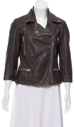 AllSaints Leather Asymmetrical Jacket