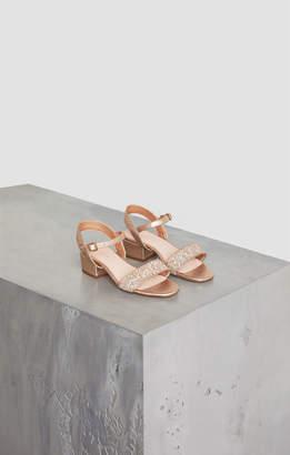 BCBGMAXAZRIA Hilary Metallic Glitter Sandal