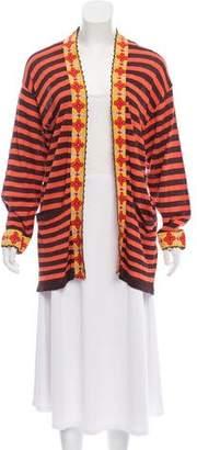 Christian Lacroix Bazar de Striped Open-Front Cardigan
