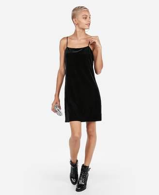 Express Velvet Square Neck Slip Dress