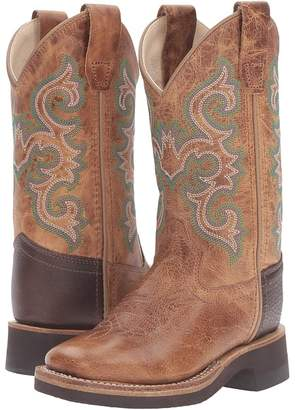 Old West Kids Boots Square Toe Crepe Sole Tan Fry Cowboy Boots