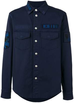 Valentino military patch shirt