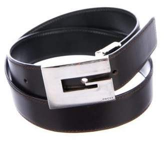 Gucci Reversible Leather Buckle Belt