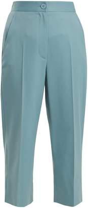 MM6 MAISON MARGIELA High-rise straight-leg cropped twill trousers