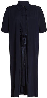 Rosetta Getty Split Front Silk Dress