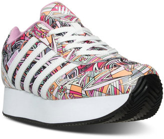 K-Swiss Girls' New Haven Platform MOD Casual Sneakers from Finish Line $54.99 thestylecure.com