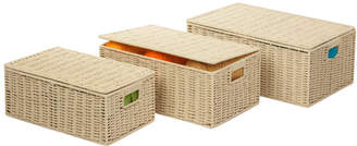 Honey-Can-Do Set Of 3 Baskets With Hinged Lids