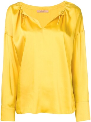 Yves Salomon satin blouse