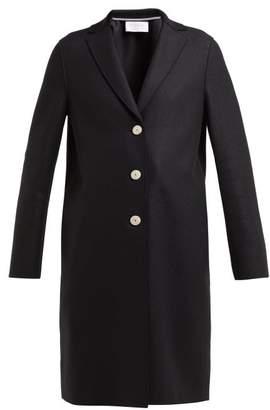 Harris Wharf London Single Breasted Wool Coat - Womens - Black
