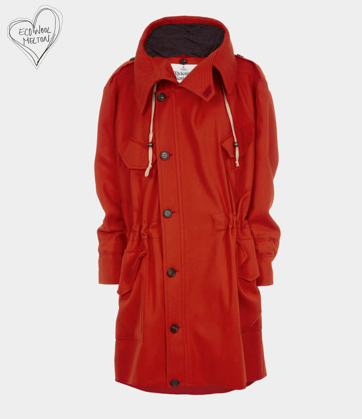 Military Parka Red