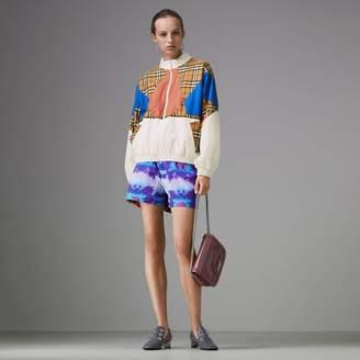Burberry Tie-dye Print Shell Shorts , Size: 02