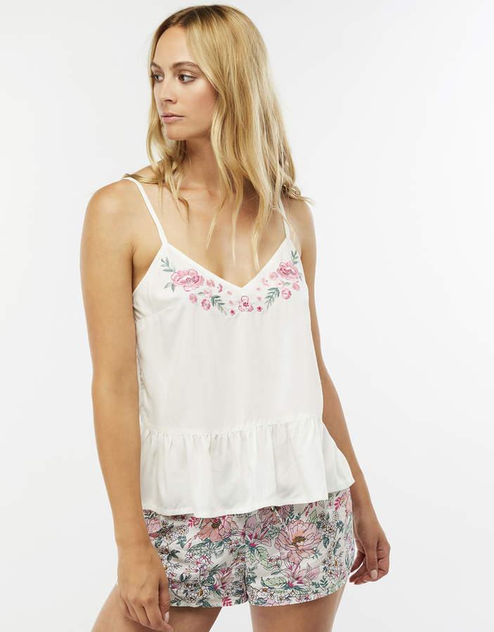 Darcey Embroidered Vest Pyjama Set