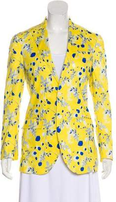 R 13 Floral Print Notch-Lapel Blazer