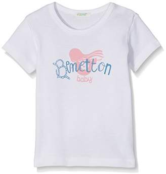 Benetton Baby Boys T-Shirt, (White 101)