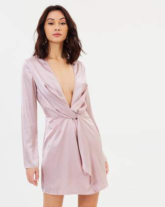 Missguided Twist Long Sleeve Shift Dress