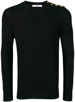 Givenchy buttoned shoulder jumper