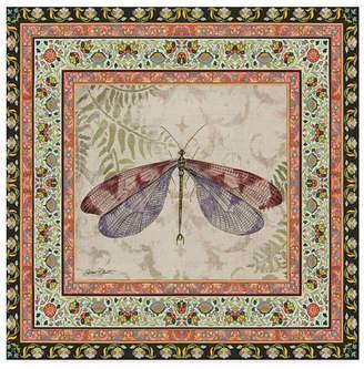"Jean Plout 'Bohemian Dragonfly 1' Canvas Art - 35"" x 35"""