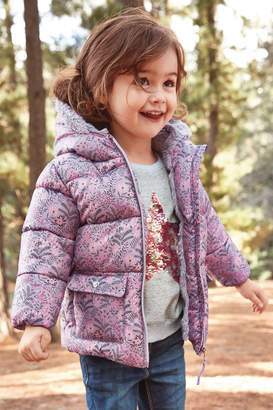 Next Girls Lilac Shower Resistant Padded Jacket (3mths-7yrs) - Purple