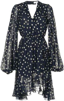 Caroline Constas embroidered star asymmetric dress