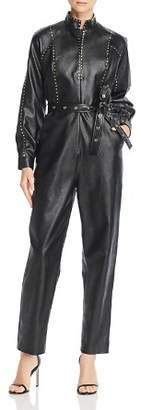 Divine Heritage Faux Leather Flight Jumpsuit