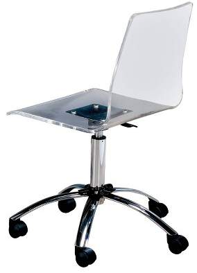 clear HOMES: Inside + Out Jacques Modern Office Chair ioHOMES
