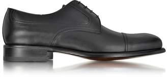 a. testoni A.Testoni Black Leather Derby Shoe