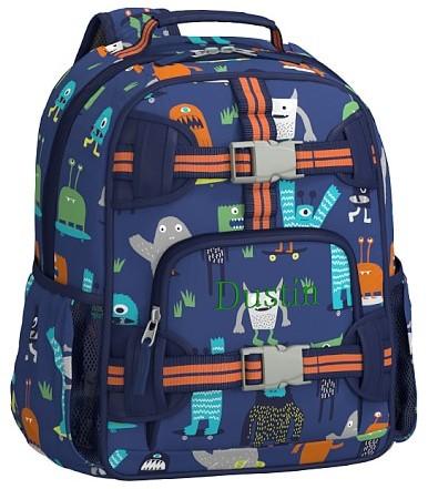 Pre-K Backpack, Mackenzie Navy Monster