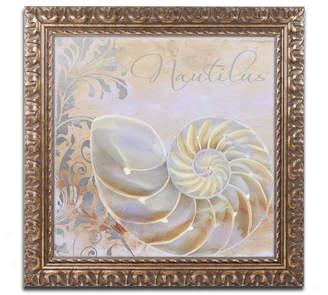 Trademark Global Color Bakery 'Painted Sea Iii' Ornate Framed Art