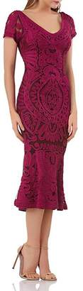 JS Collections Ribbon Embellished Midi Dress
